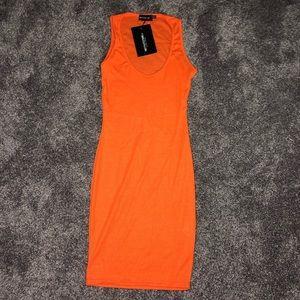 simple orange dress
